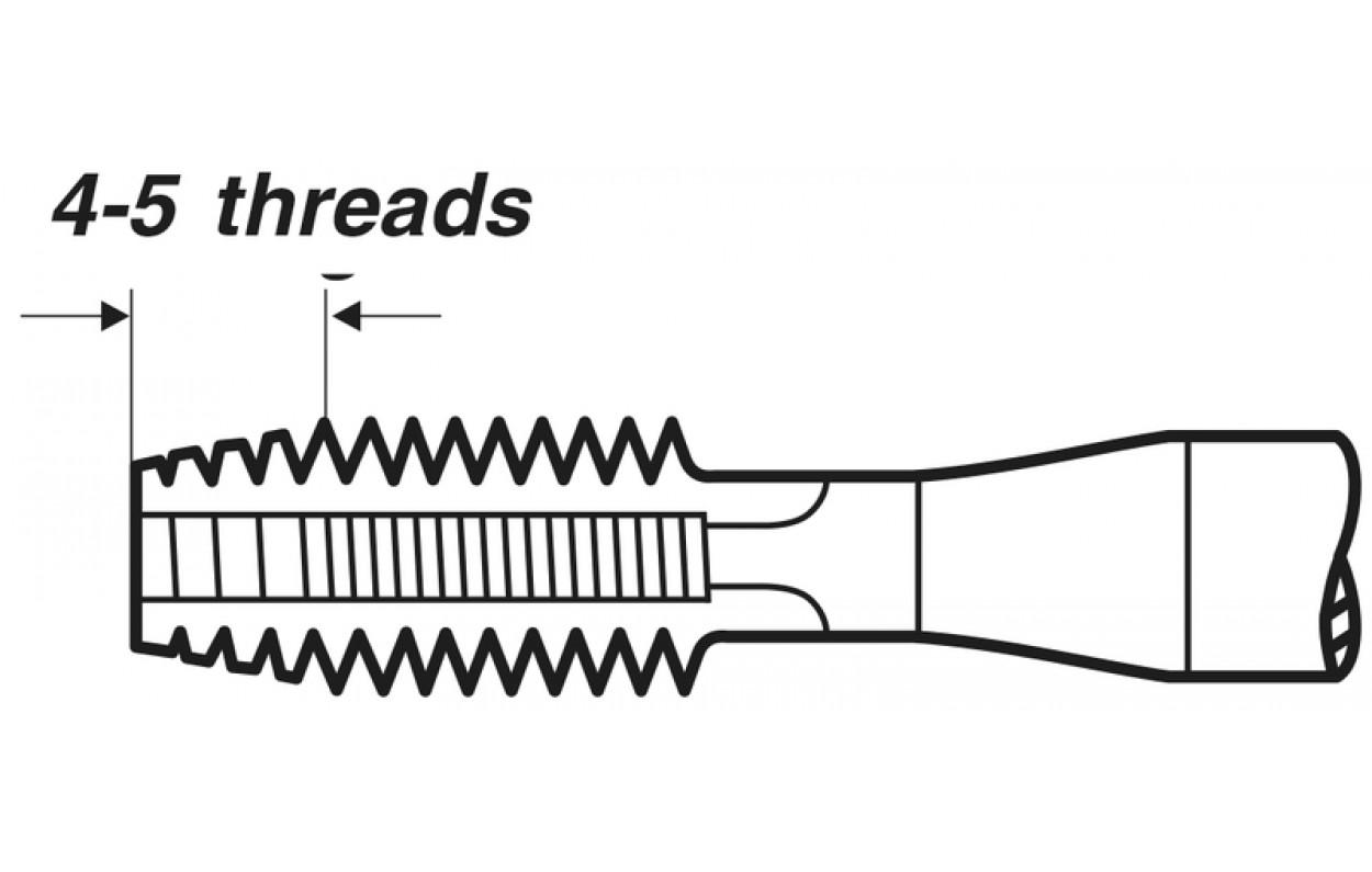 Einschnittgewindebohrer Form D HSS-G DIN 2181 M 12X1,5 Feingewinde