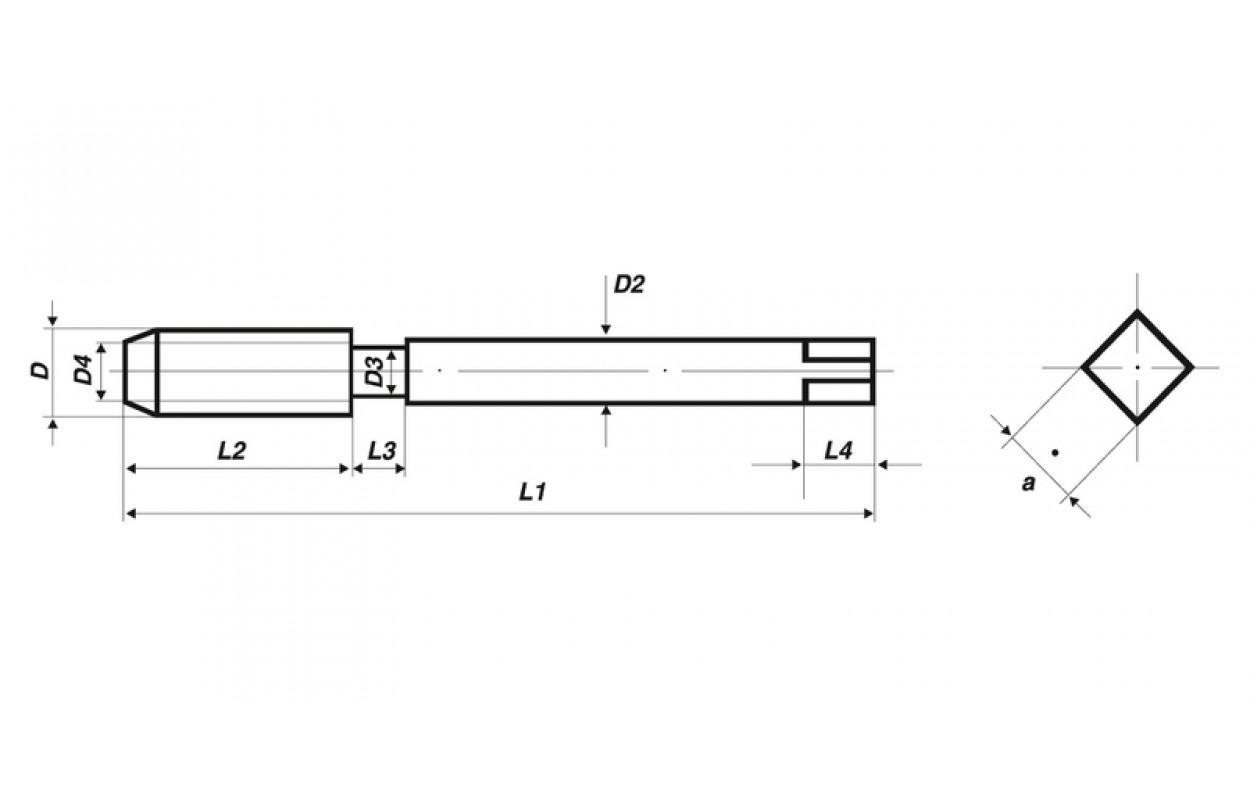 HSS-E LINKS VÖLKEL Maschinengewindebohrer 35° RSP M 8 DIN 371