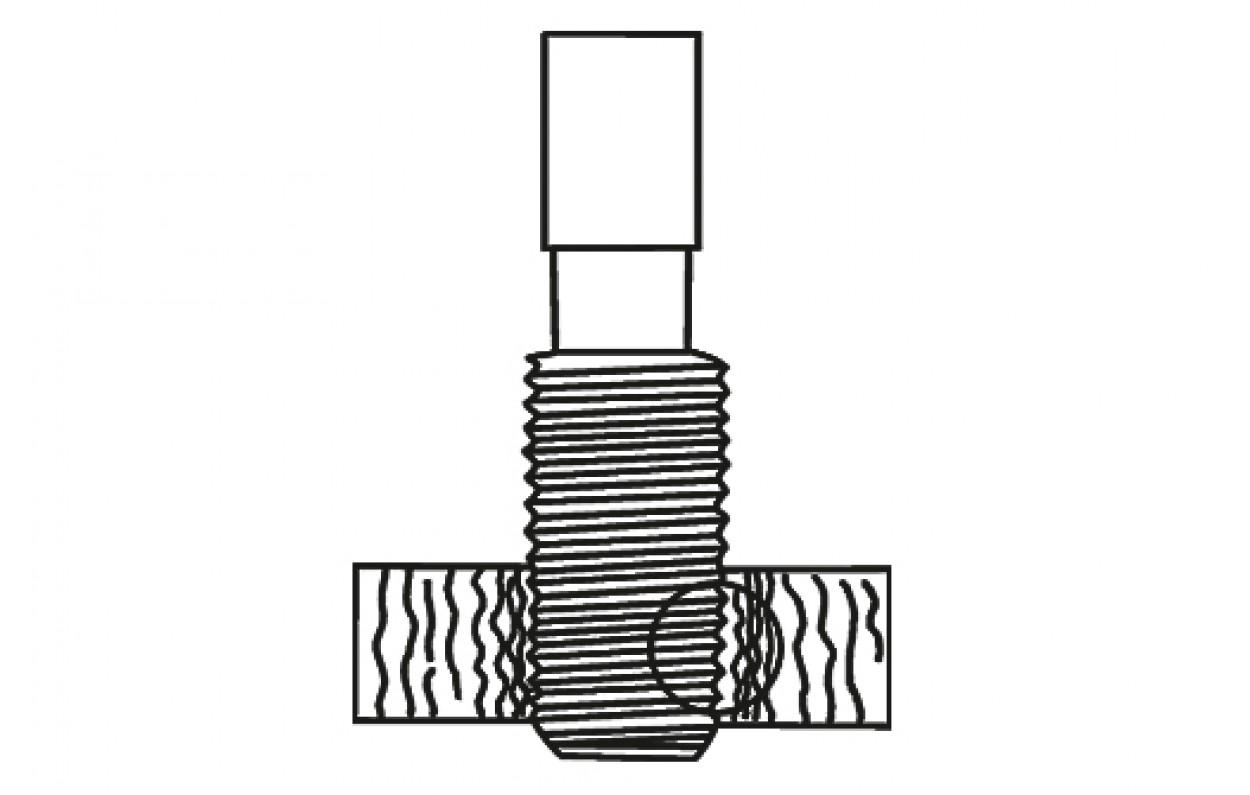 VÖLKEL Handgewindebohrer Form D Second JIS B-4430 HSS-G M 16X1,0