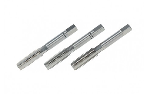 Bright Finish 3 Pieces DIN 352 R230060LI 56.0 mm Length Ruko HSS Hand Tap Set M 6 x 1.00 mm Nominal Thread Size Ground