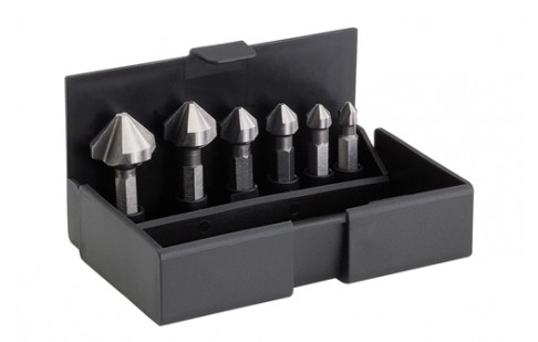 Countersink-bits 90° (set of 6 pcs.) 6.3 – 20.5 mm