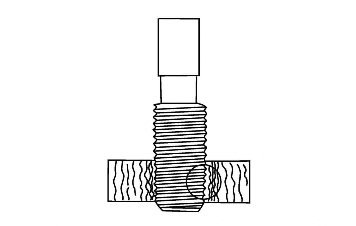 Maschi a rullare senza canali di espulsione DIN 371 Forma C HSSE TiN - M 8 x 1.25