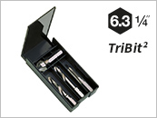 Twist drill bit, combined threading bits